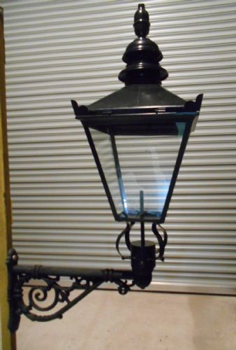 Large Black Victorian Lantern with Wall Bracket